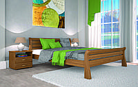 Кровать двуспальная белая деревянная Ретро-1 160*200 сосна