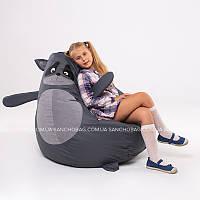 """Детское кресло-мешок """"Енот"""" M 110x80 см (ткань: оксфорд), фото 1"""