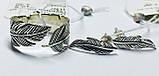 Набір в сріблі Пір'їнка, фото 2
