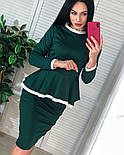 Женский костюм: кофта с баской и юбка-кардандаш (в расцветках), фото 4