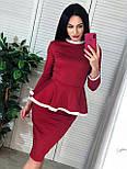 Женский костюм: кофта с баской и юбка-кардандаш (в расцветках), фото 9