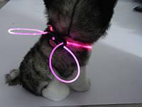 Декоративный шнурок для подсветки ошейника 80 см розовый
