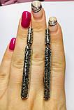 Срібні сережки з ажурним підвісом Бароко, фото 4