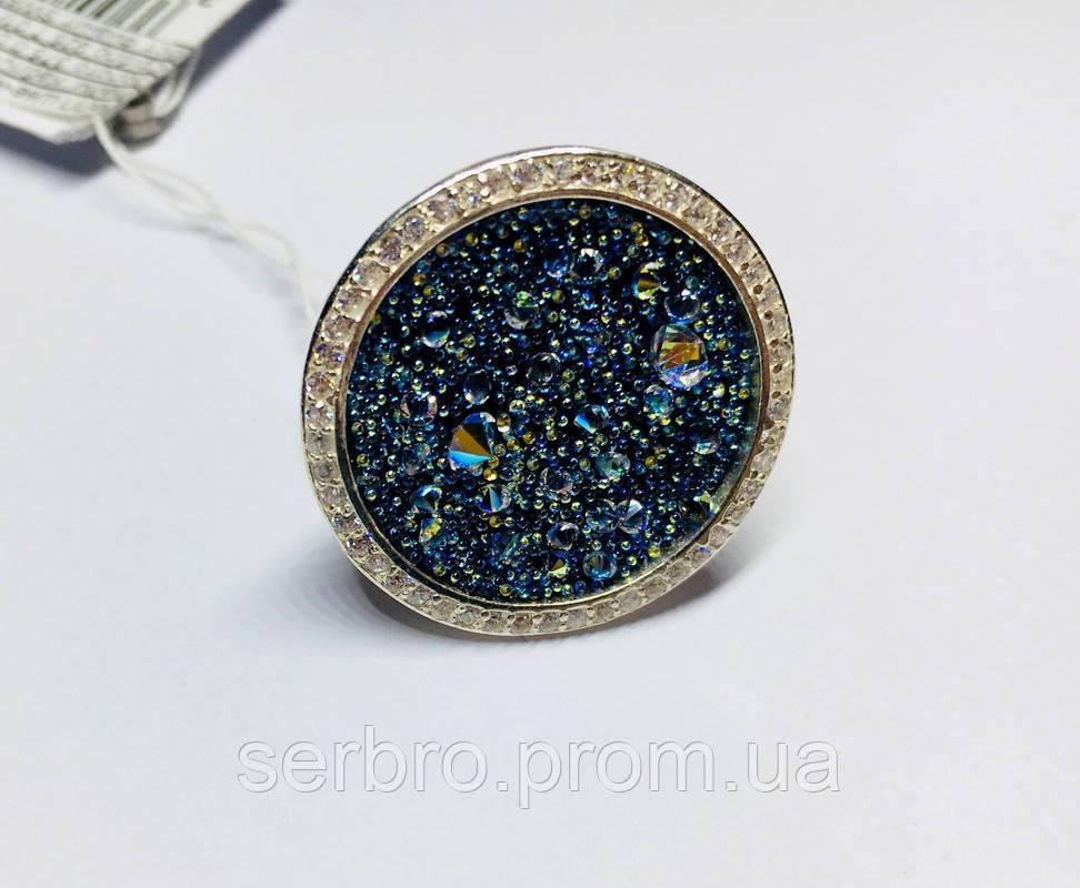 Кольцо в серебре с камнями Swarovski Марисабель