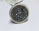 Кругле кільце срібло з золотом і камінням Swarovski Марісабель, фото 3