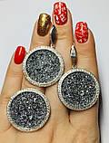 Круглый гарнитур серебро с золотом и камнями Swarovski  Марисабель, фото 4