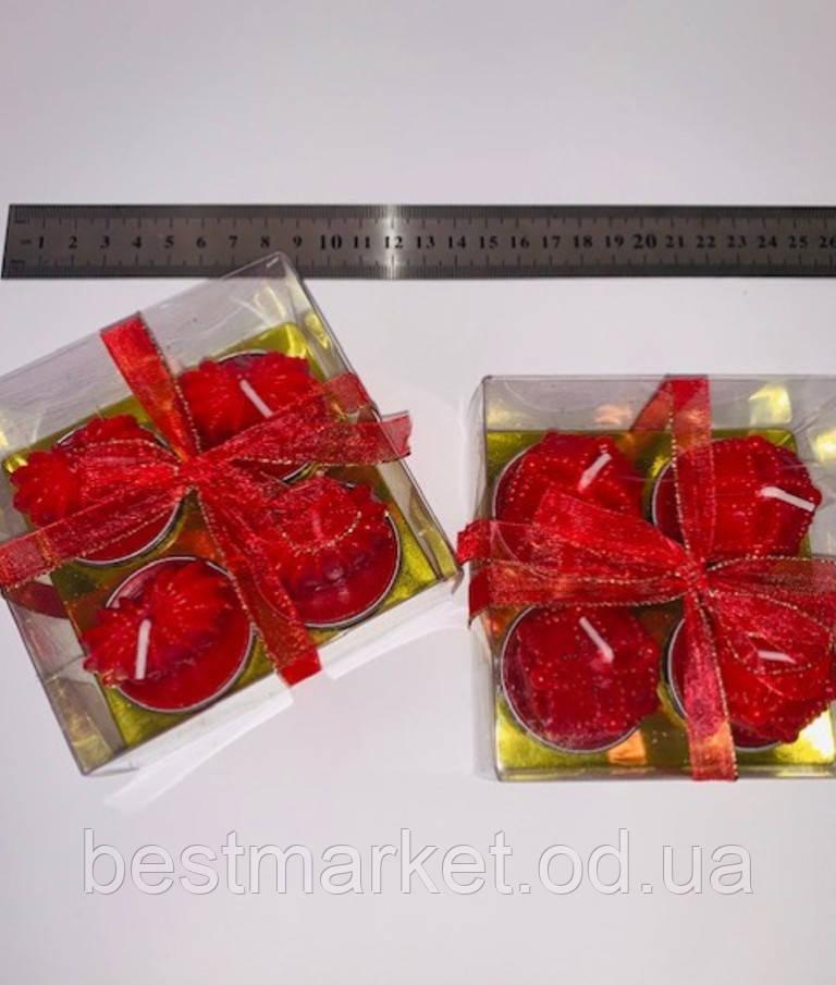 Набор Праздничных Фигурных Свечей Романтика День Святого Валентина 4 шт в Наборе