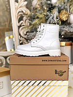 Женские ботинки Dr Martens 1460 White, белые доктор Мартинс демисезон (весна-осень).