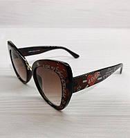 Женские солнцезащитные очки Dolce&Gabbana реплика Коричневые