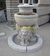 Садовый фонтан декоративный бетонный для сада дачи во дворе, фонтанчики дачные уличные небольшие с вазой.