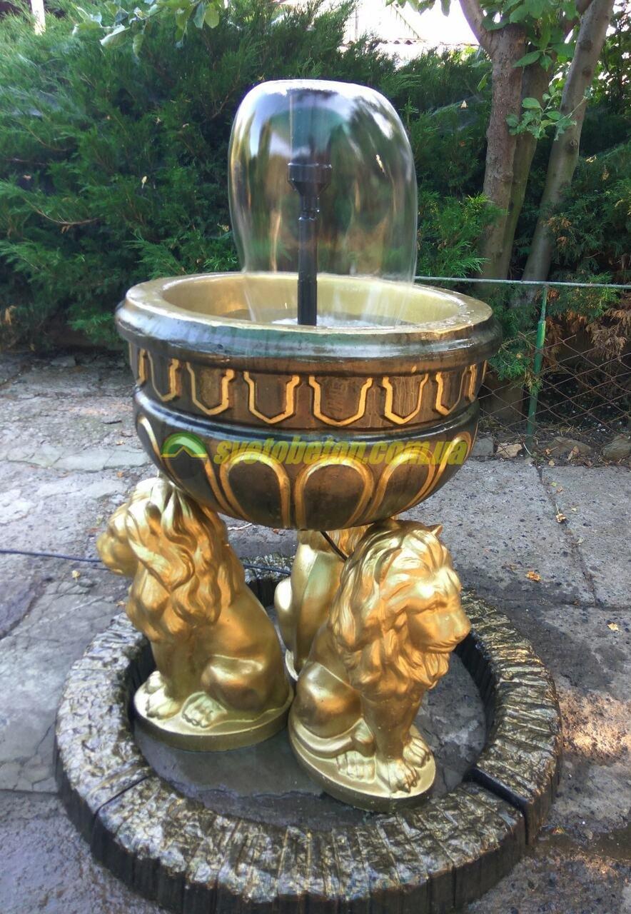 Садовый фонтан декоративный бетонный для сада дачи во дворе, фонтанчики дачные уличные небольшие.