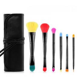 Набор кистей для макияжа профессиональный MSQ Professional makeup brush set MultiColor черный (6шт)
