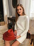 Женское вязаное платье кашемир и шерсть (в расцветках), фото 6