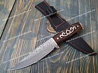 Качественный охотничий нож для разделки мяса| 215 Дамаск с гардой Cross ( Псевдо)