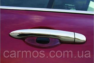 Накладки на ручки Renault Megane II 04-09 (меган), 4шт нерж