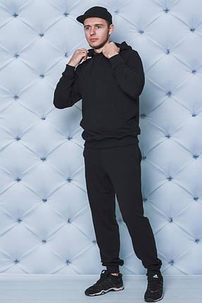 Трикотажный спортивный костюм черный, фото 2