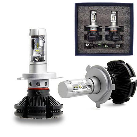 Светодиодные лампы X3 H4 LED LUXEON ZES, фото 2