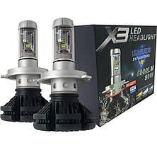 Светодиодные лампы X3 H4 LED LUXEON ZES, фото 3