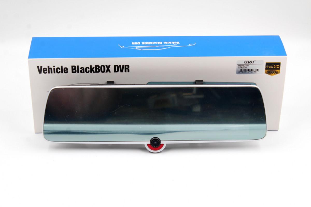 Зеркало видеорегистратор DVR на три камеры 5'' + touch C33