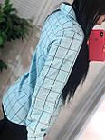 Жіноча бавовняна сорочка в клітку (в кольорах), фото 2