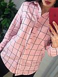 Жіноча бавовняна сорочка в клітку (в кольорах), фото 6