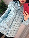 Жіноча бавовняна сорочка в клітку (в кольорах), фото 7