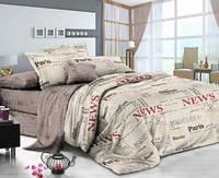 Полуторный хлопковый комплект постельного белья Комфорт Текстиль сатин