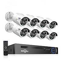 Комплект видеонаблюдения Hiseeu 8ch POE KIT-8HB612 2Mp-1080P