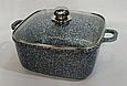 Кастрюля-казан квадратный 3л. Гранитное покрытие - Benson BN-320, фото 2