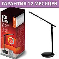 Настольная LED лампа Colorway, светодиодная, с аккумулятором и регулятором яркости (CW-DL02B-B)