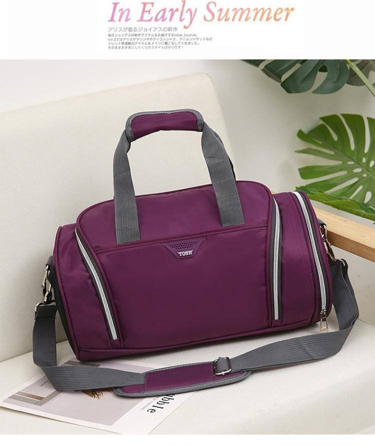 Спортивная сумка TOSH фиолетовая