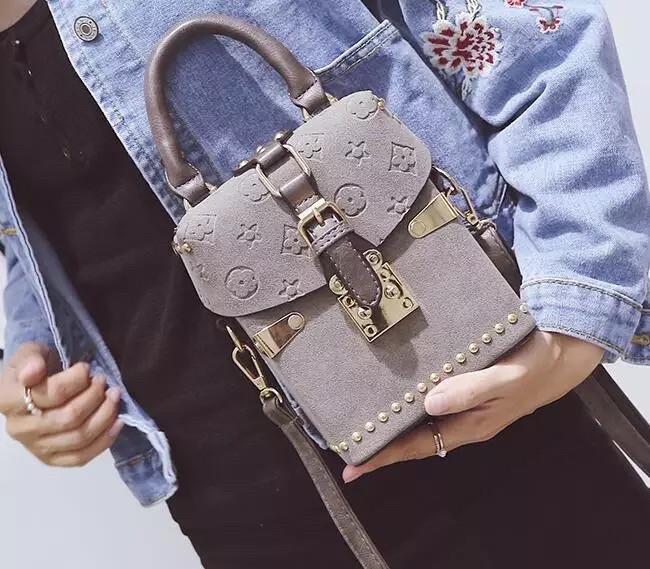 Женская Сумка клатч Louis Vuitton LV (реплика  луи витон) grey