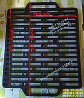 Решетка гриль чугунная для барбекю мангала 400х510 мм. чугунное литье