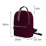 Рюкзак жіночий замшевий міської стильний (чорний), фото 4