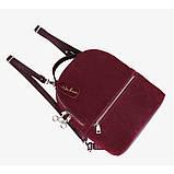 Рюкзак жіночий замшевий міської стильний (чорний), фото 6
