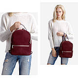Рюкзак жіночий замшевий міської стильний (чорний), фото 2