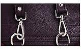 Рюкзак жіночий замшевий міської стильний (чорний), фото 8