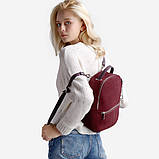 Рюкзак жіночий замшевий міської стильний (чорний), фото 3