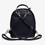 Рюкзак жіночий замшевий міської стильний (чорний), фото 5