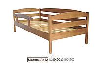 Кровать подростковая ЛК-12   80*200 сосна