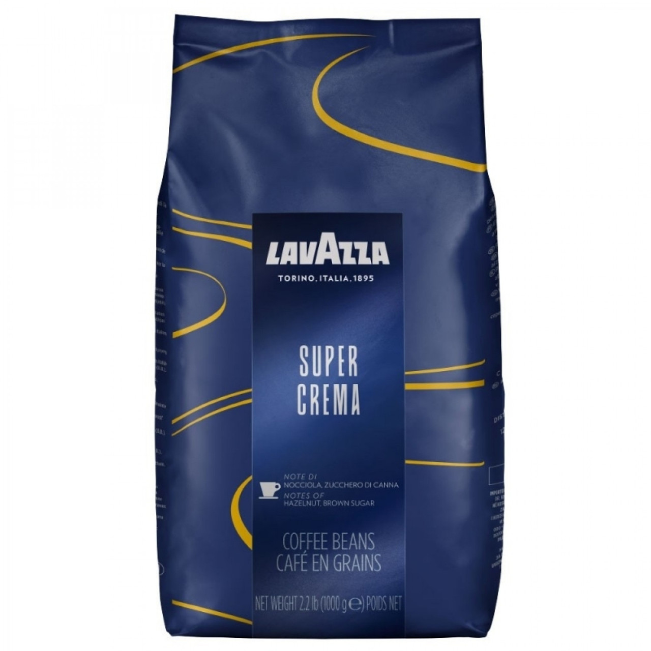 Кофе Lavazza Super Crema в зернах 1 кг (8000070042025)