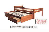 Кровать подростковая ЛК-13   80*200 сосна