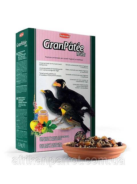 Padovan (Падован)-GRANPАTЕE fruits Корм комплексний фруктовий для комахоїдних птахів (1 кг)