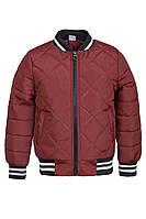 Демисезонная куртка на мальчика ANSK 116 бордовая 2044000D