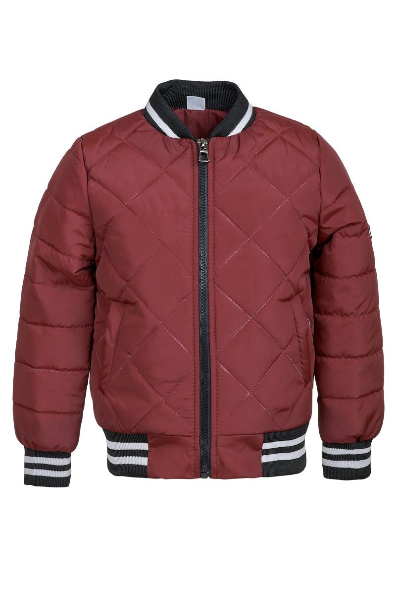 Демисезонная куртка на мальчика ANSK 122 бордовая 2044000D