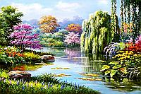 """Набор алмазной вышивки (мозаики) """"Весенний пейзаж"""""""