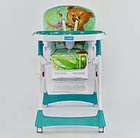 """Детский стульчик для кормления JOY J 3900 """"мишка на природе"""", фото 1"""