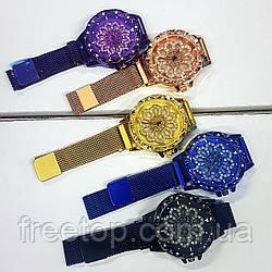Женские часы с вращающимся циферблатом в стиле Chanel Flower Diamondна магнитной застежке