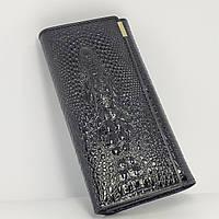 Женский кошелек из натуральной кожи CROCODILE (ALIGATOR) Черный
