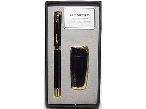 HONEST: зажигалка + ручка.